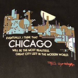Chicago tee Sz XXL Frank Lloyd Wright